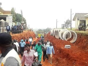 Image result for Governor Okowa reconstructs storm drainage system